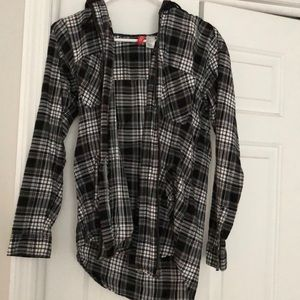 Flannel with hood!